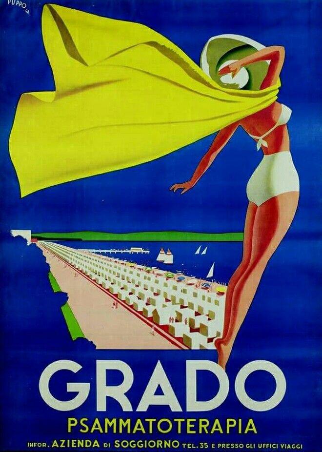 Italy - Grado | Vintage & Modern Travel Posters A-M | Pinterest ...