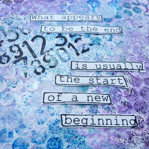 Saya's Art & Inspiration: Art Journaling
