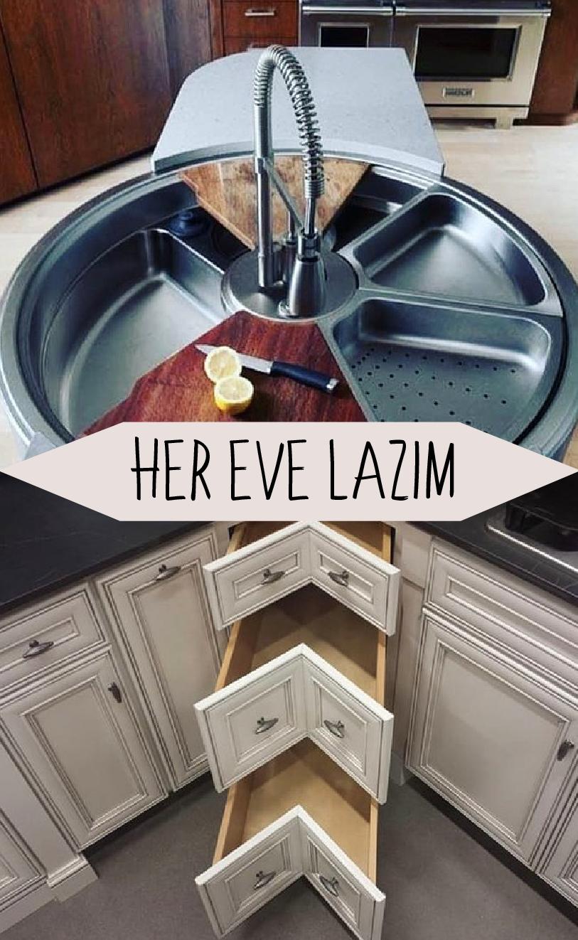 Bunlardan Her Eve Lazım! Görünce Adeta Gelecekten Geldiğini Düşüneceğiniz Birbirinden Kullanışlı Ev Aletleri #kitchenfurniture