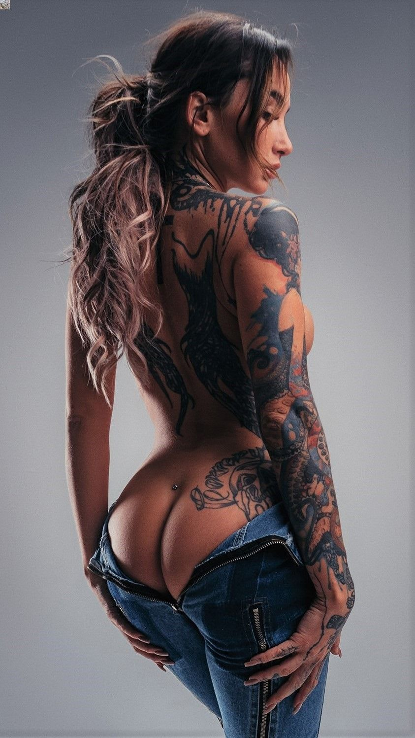 Lace bodysuit i saw it first  siberiansbeautifulity uc Ium Gonna Be ud  Tattooed ladies  Pinterest