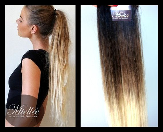 High Contrast Neutral Ombre Tape In Hair Extensions | Silky ...