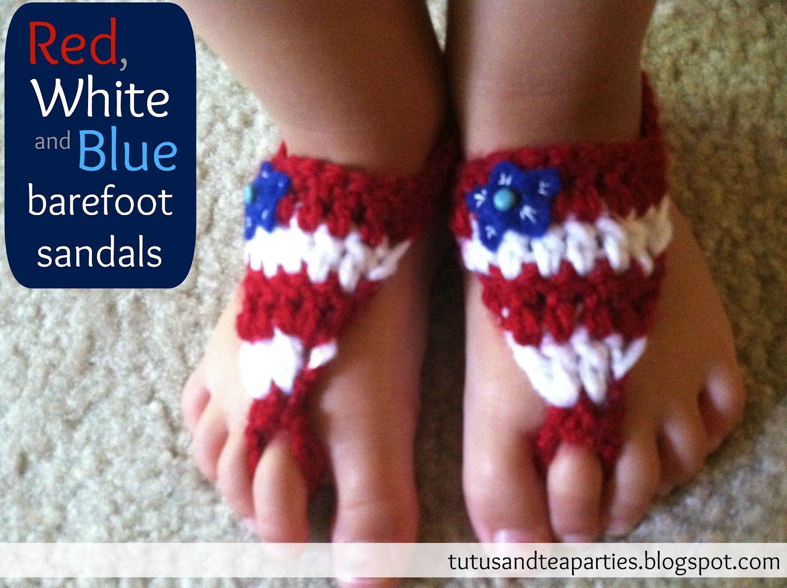 Tutus and tea parties free crochet pattern patriotic barefoot tutus and tea parties free crochet pattern patriotic barefoot sandals bankloansurffo Gallery