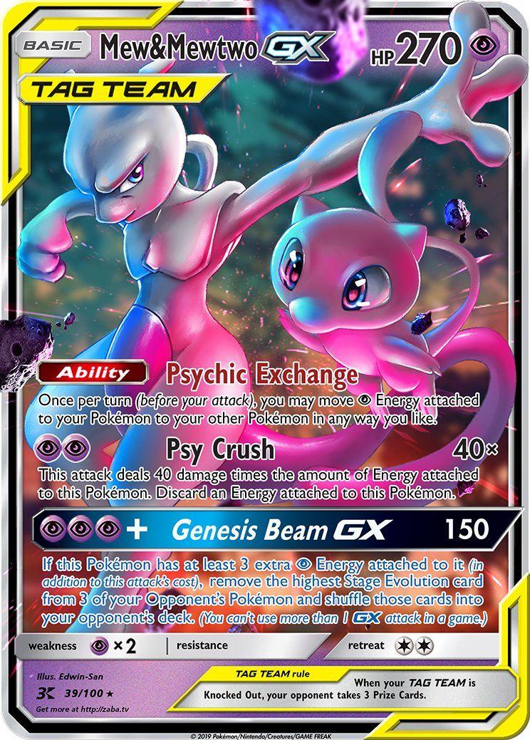 Attack On Titan Karte.Mew Mewtwo Gx Tag Team Custom Pokemon Card Pokemon Card