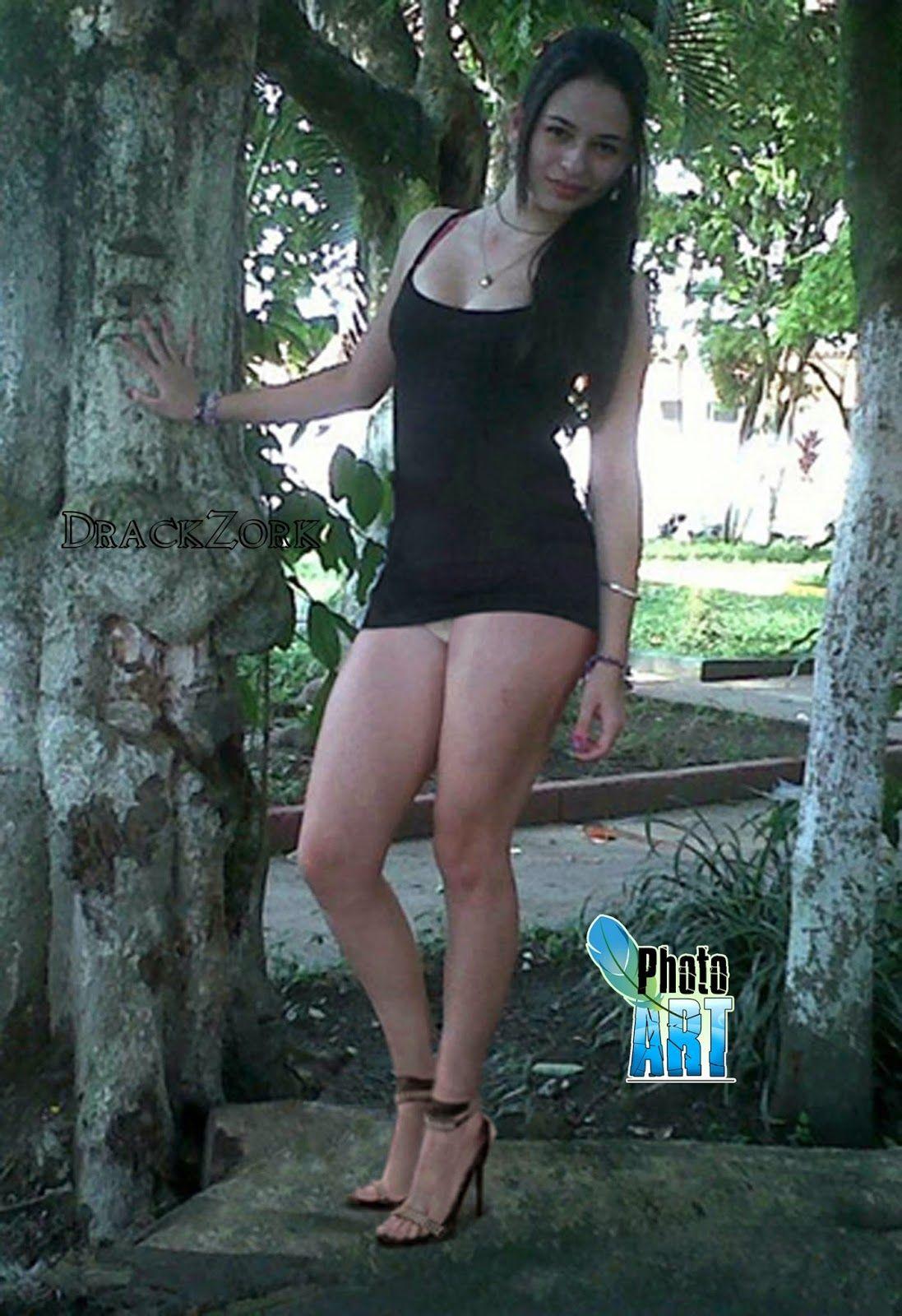 Areliz Mega Upskirt Black Dress Granada Babe Teen Interior Bellisima Hot