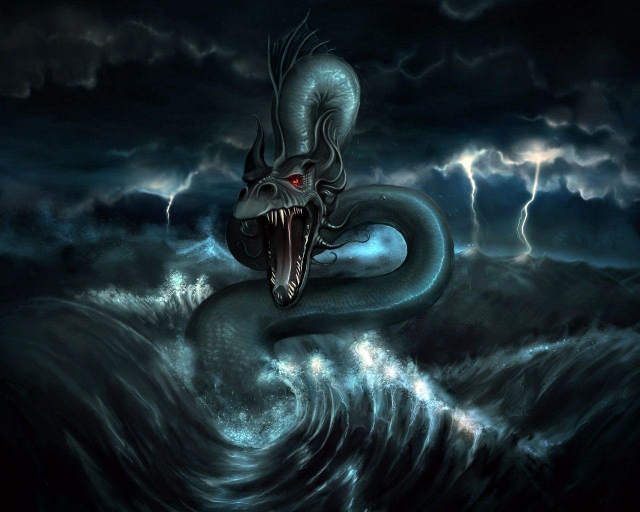Sea snake dragon wallpaper from dragons wallpapers dragons sea snake dragon wallpaper from dragons wallpapers voltagebd Image collections
