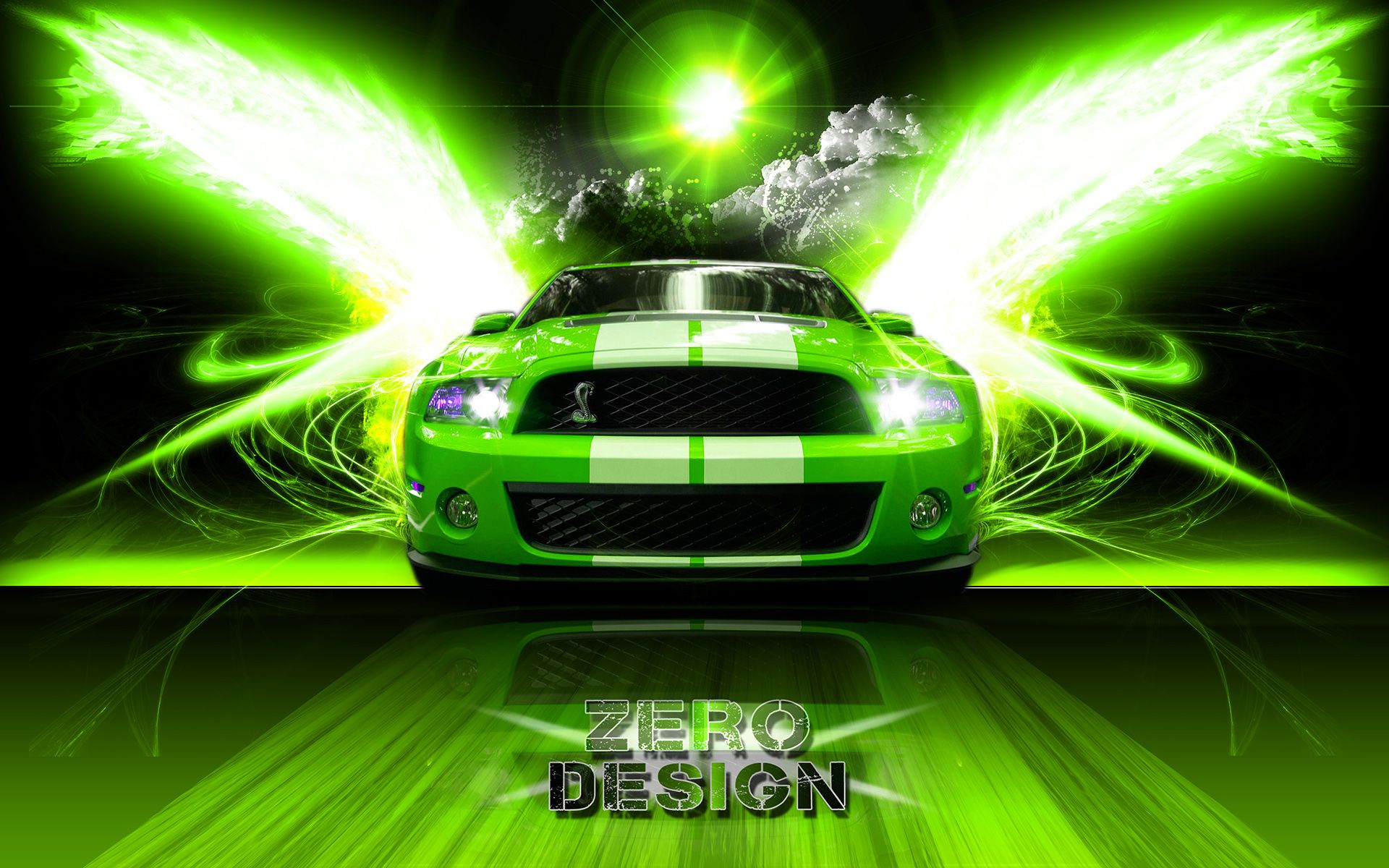 Green ford mustang shelby gt500 car picture hd wallpaper