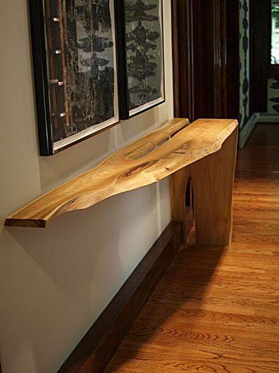 Black Locust Fold Table Wickham Solid Wood Studio Wood Slab Table Artisan Furniture Wood Slab