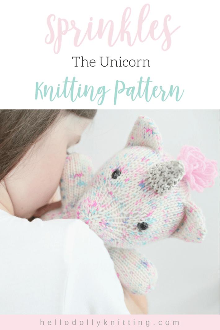 Sprinkles the Unicorn PDF Knitting Pattern | Animal knits | Pinterest