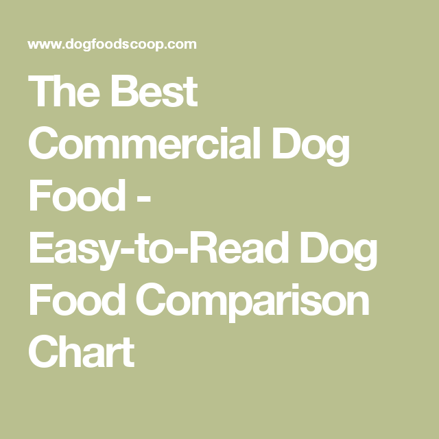 Compare Dog Food >> The Best Commercial Dog Food Easy To Read Dog Food