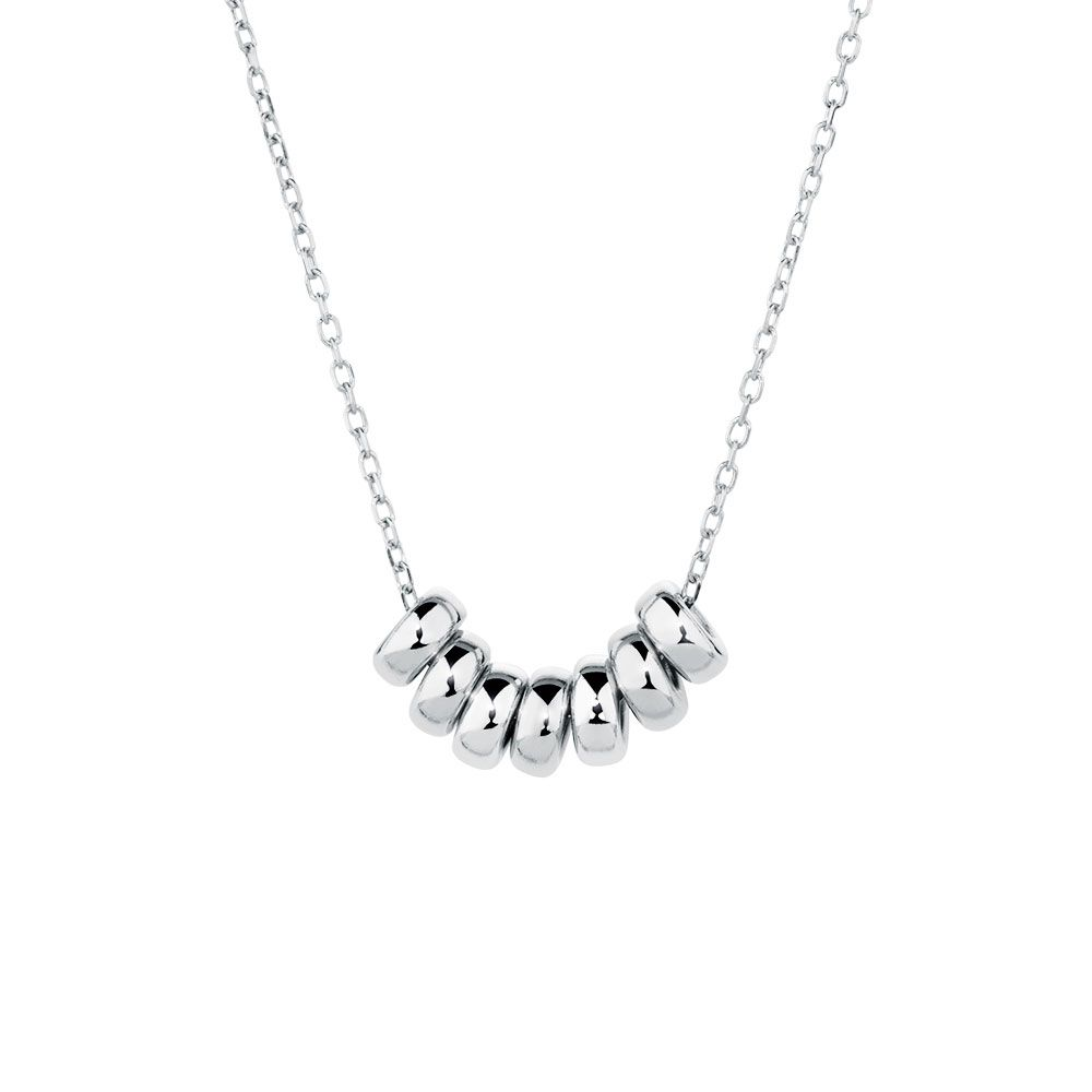 Michael hill lucky rings necklace in silver representing long life michael hill lucky rings necklace in silver representing long life good friends health mozeypictures Choice Image