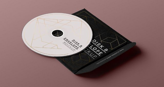 Free Psd CD Disk Sleeve Mock Up pixeden Photoshop - psd album cover template