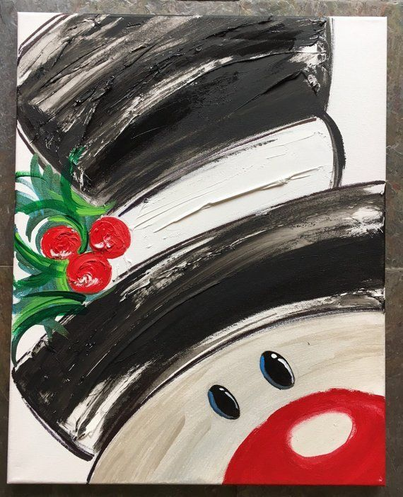 Best 12 18 Easy Christmas Canvas Painting Ideas For Kids