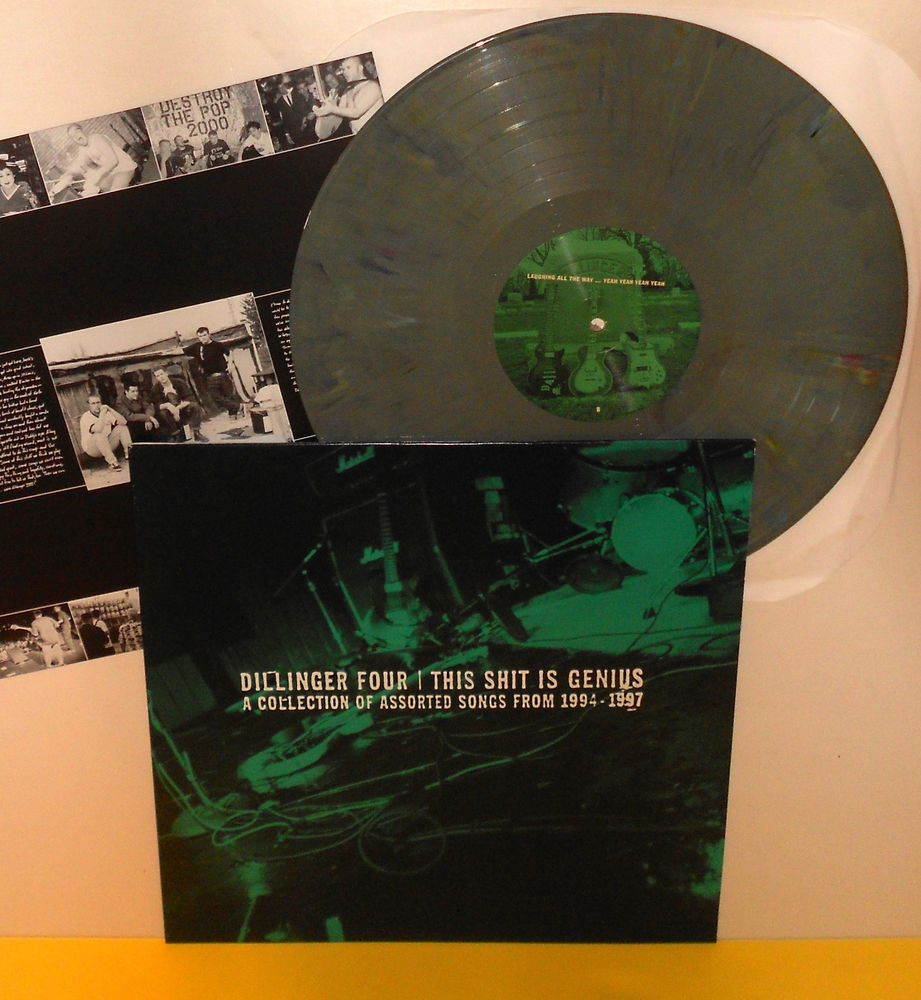 Dillinger Four This Sh T Is Genius Lp Record Olive Green Vinyl W Lyrics Insert Alternativeindieemopunk