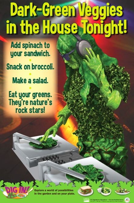 Delicious Leafy Green Poster Green Veggies Vegetable