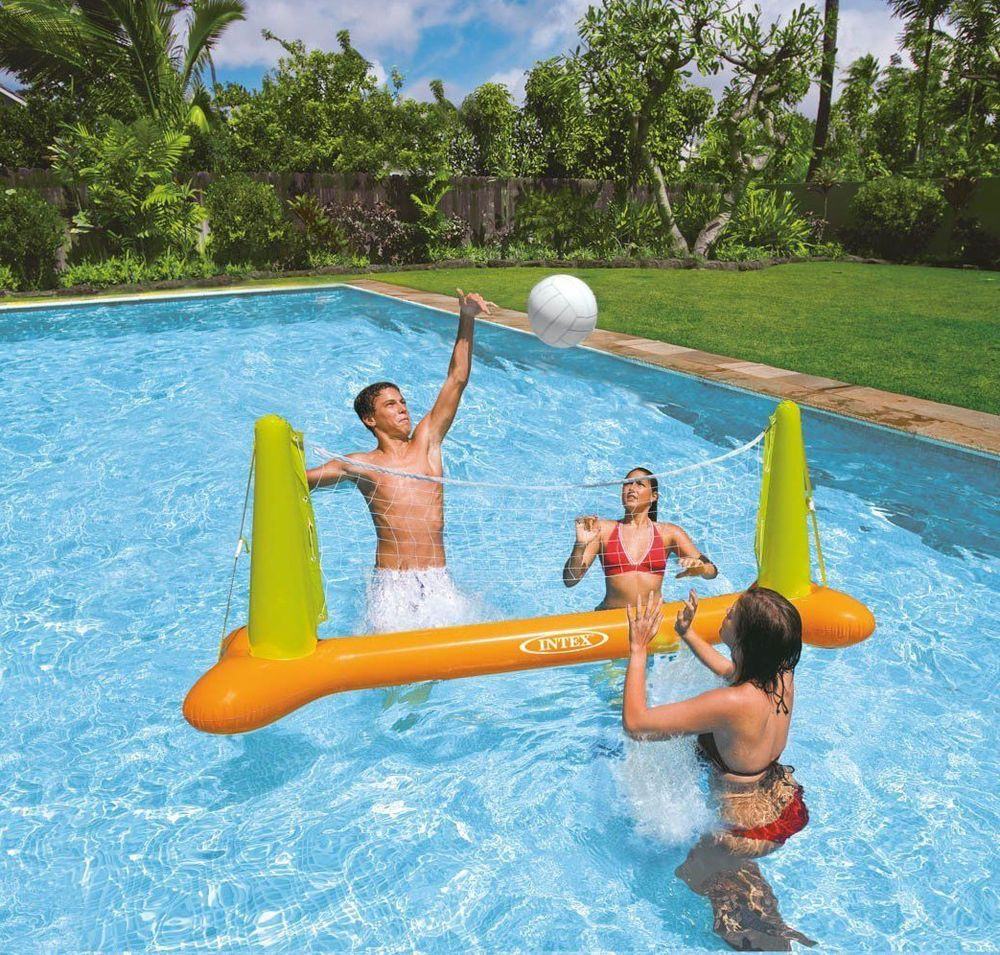 Intex 56508ep Pool Volleyball Game Inflatable Floating Swimming Fun Net And Ball Swimming Pool Toys Inflatable Pool Toys Intex Pool