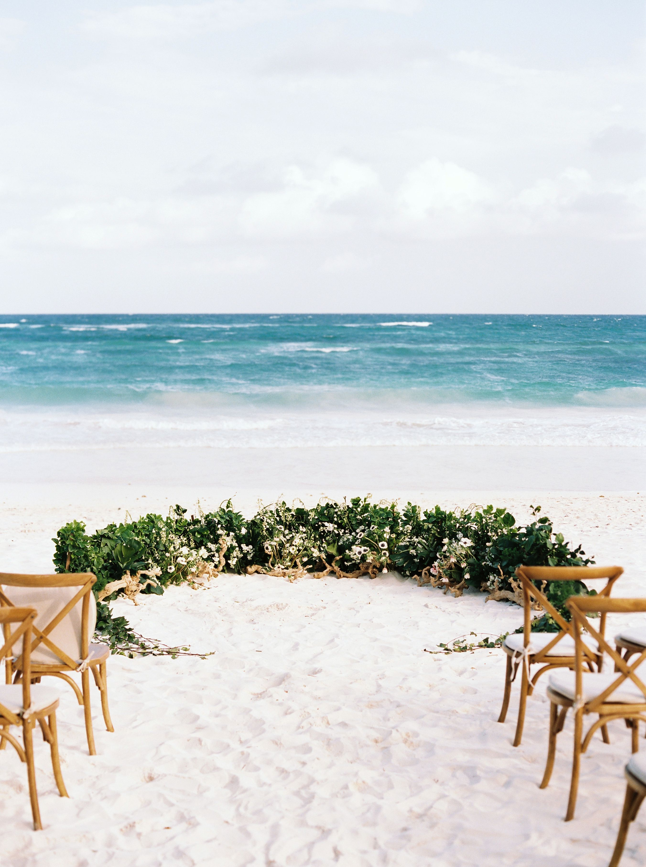 Wedding decoration ideas at the beach  Akiin Beach Tulum Destination Wedding  Wedding Ideas for the Beach