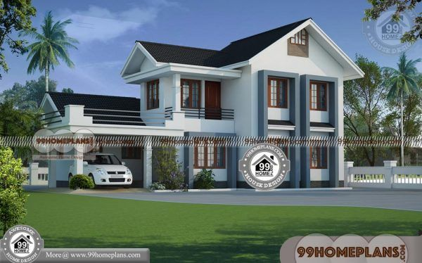 Home Plans Kerala Style 80 Beautiful Double Storey Houses Collections Small Contemporary House Plans House Plans With Pictures House Construction Plan