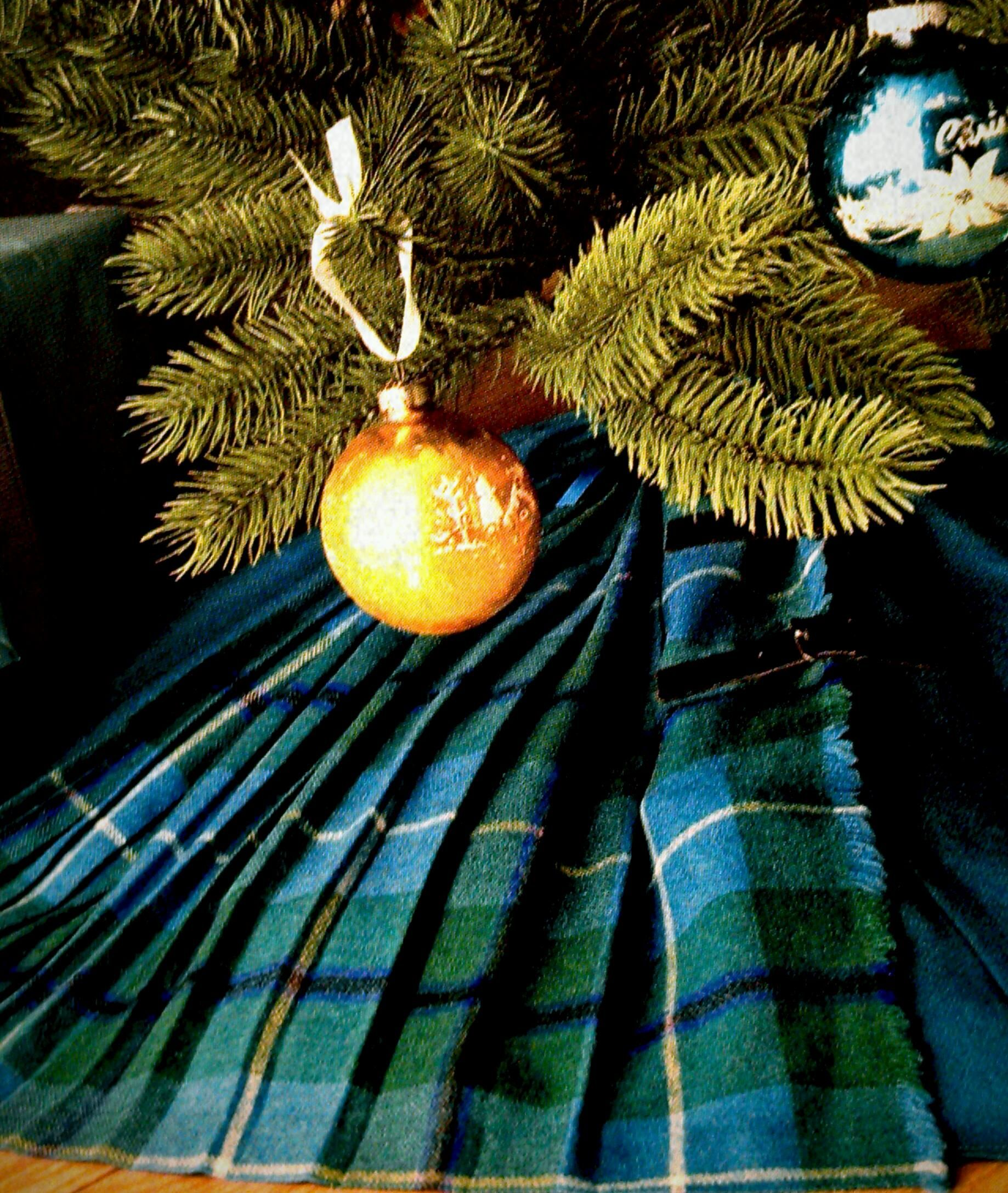 An Old Kilt Skirt Used As Christmas Tree Skirt As Seen