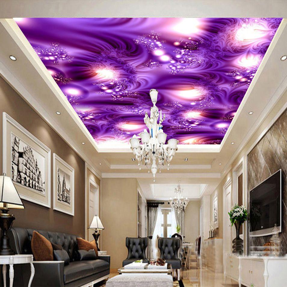 Custom Wall Mural Wallpaper Modern Abstract Art Starlight Ktv Bar Ceiling Murals Living Room