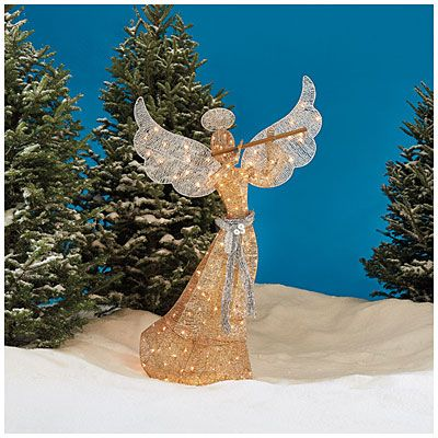 5\u0027 Pre-Lit Glittering Champagne Angel at Big Lots Christmas - outdoor angel christmas decorations