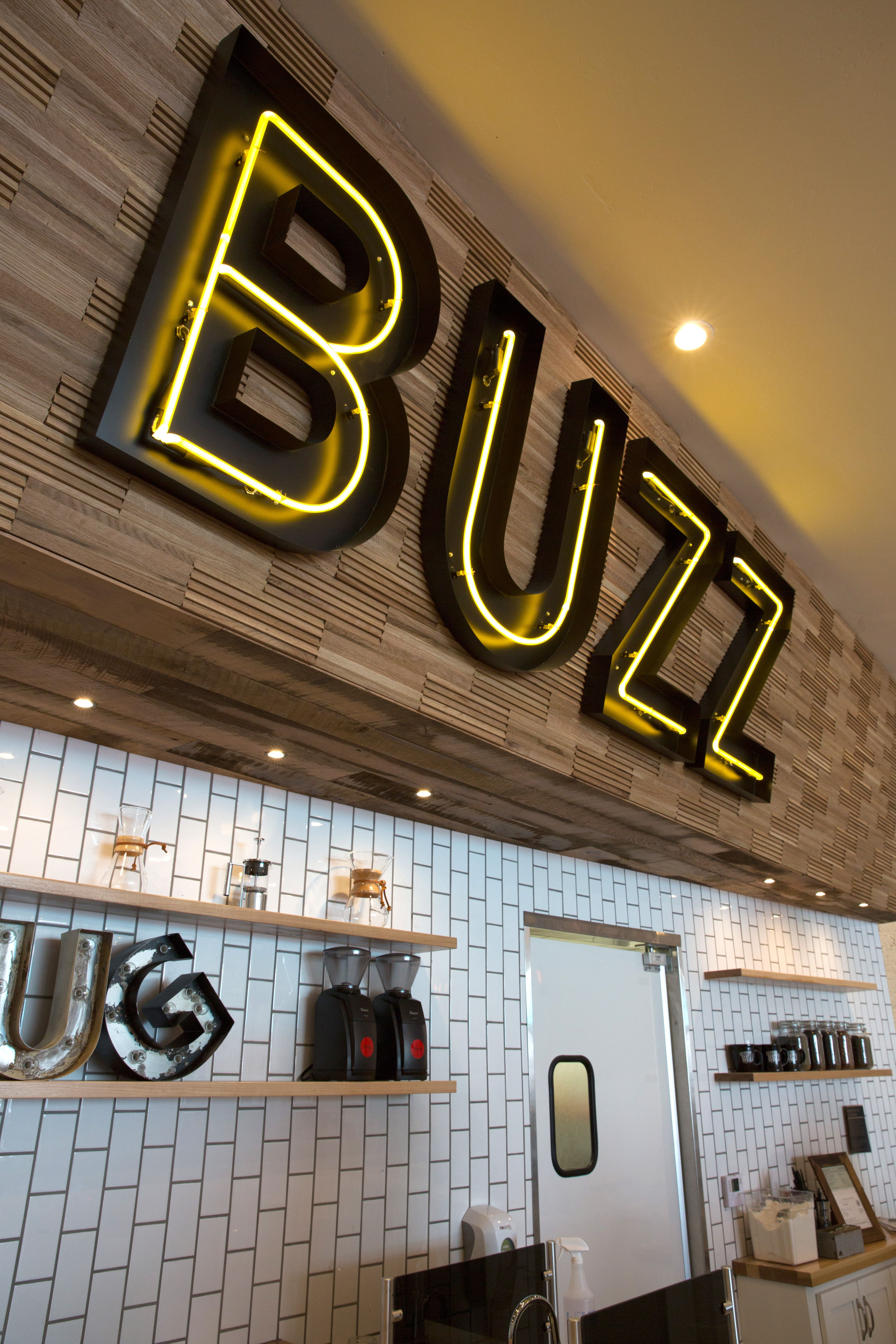DuChâteau Vertex Wall Coverings at Better Buzz Coffee.