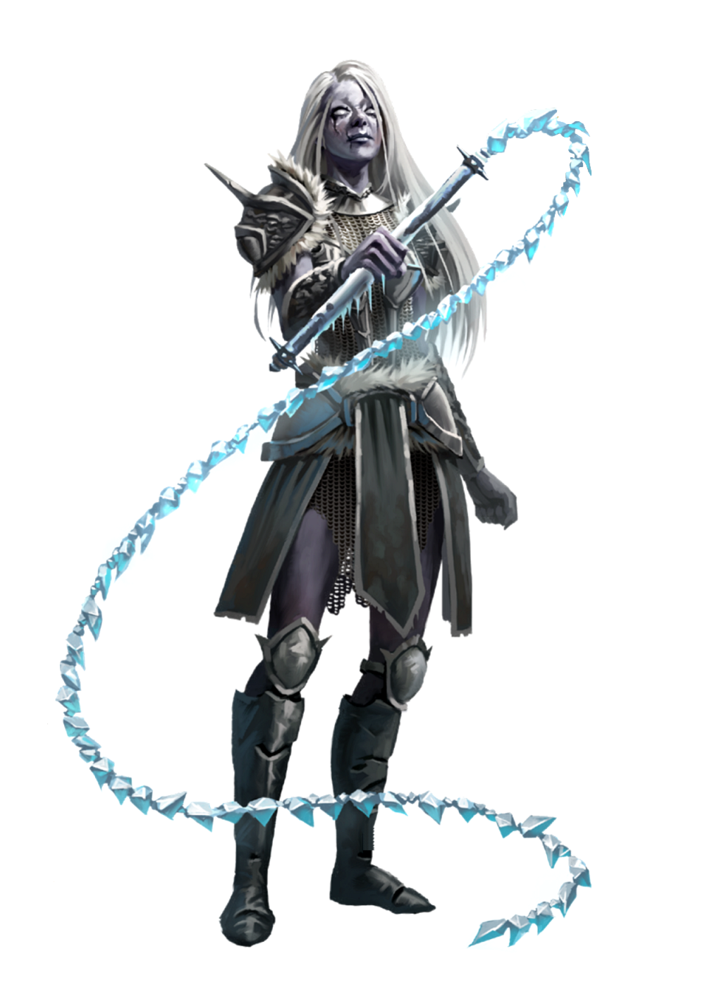 Female Shadow Giant Bard with Frost Whip - Tuirziaz