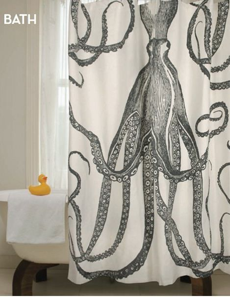 Thomas Paul Fall Preview Octopus Shower Curtains Cool Shower