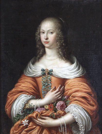 Młoda dama (Anna Maria Radziwiłł?), malarz holenderski, ok. 1665 ?, Muzeum Warmii i Mazur w Olsztynie