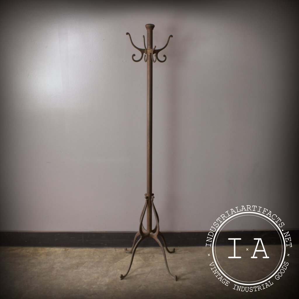 Antique Cast Iron Coat Rack Tree Hook