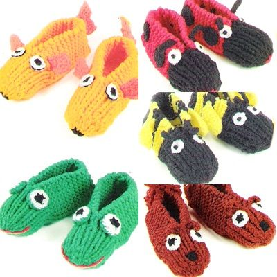 cfbdf7434503 Knitted animal slippers Patterned Socks