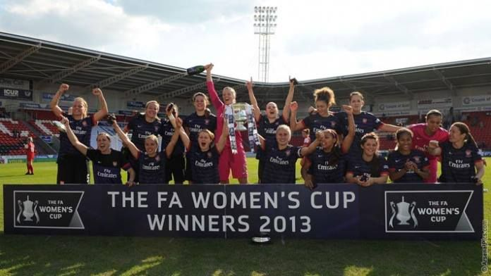 Arsenal Ladies won the FA Women's Cup for the 12th time on Sunday afternoon after beating Bristol Academy 3-0 at Doncaster Rovers' Keepmoat Stadium.