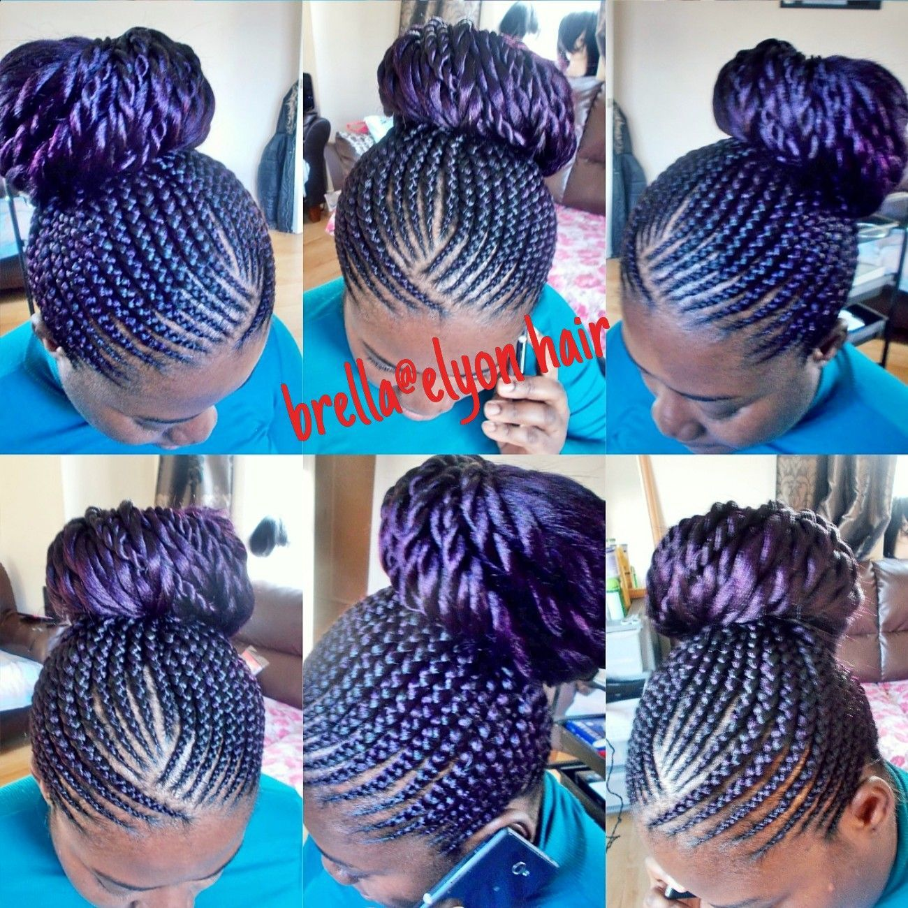 Invisible Cornrow Hairstyles