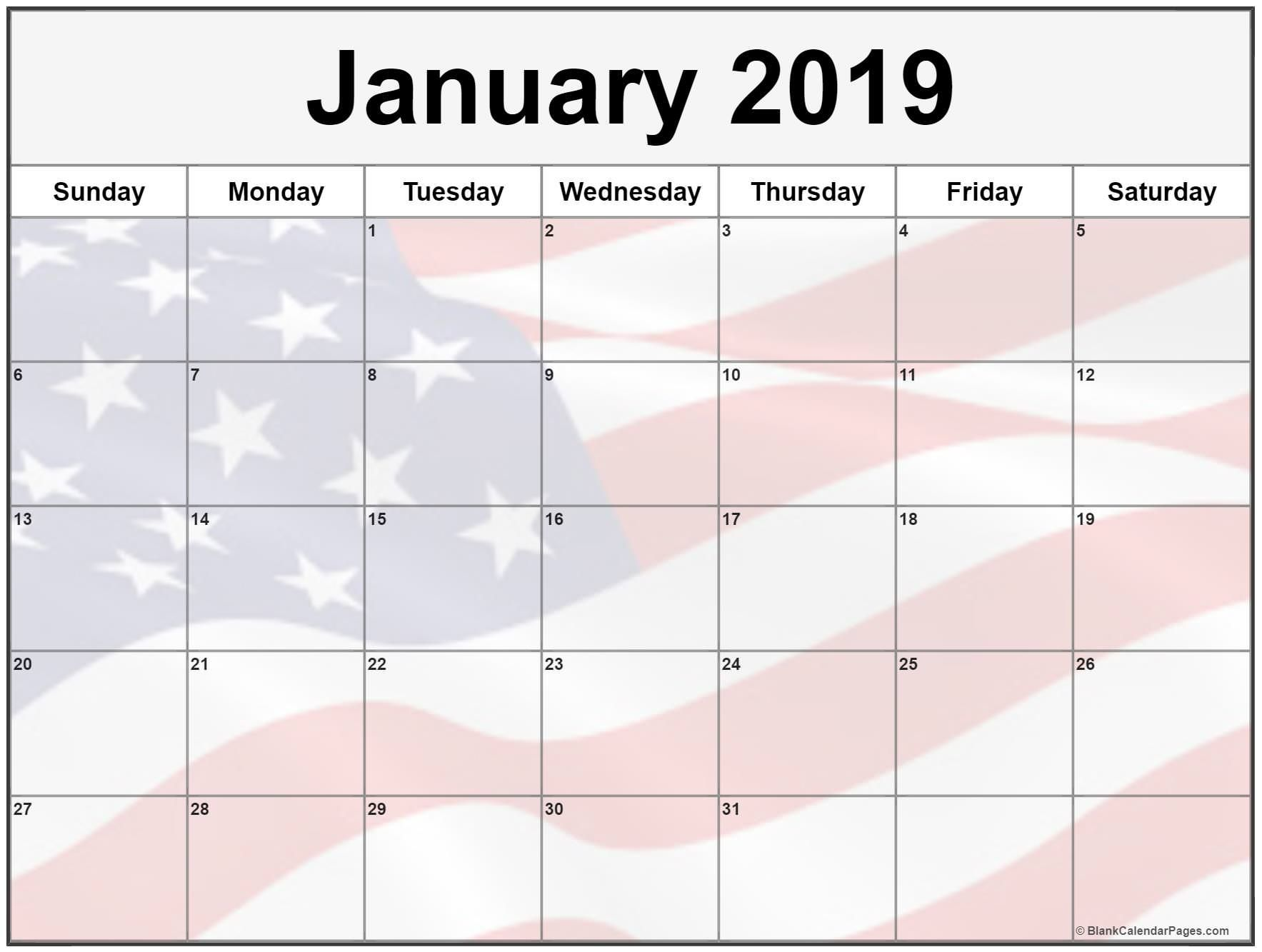 January 2020 Calendar Usa Holidays Federal National Bank