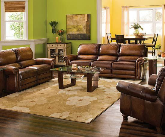 Stylish living room collections from raymourstylish living - Yellow leather living room furniture ...