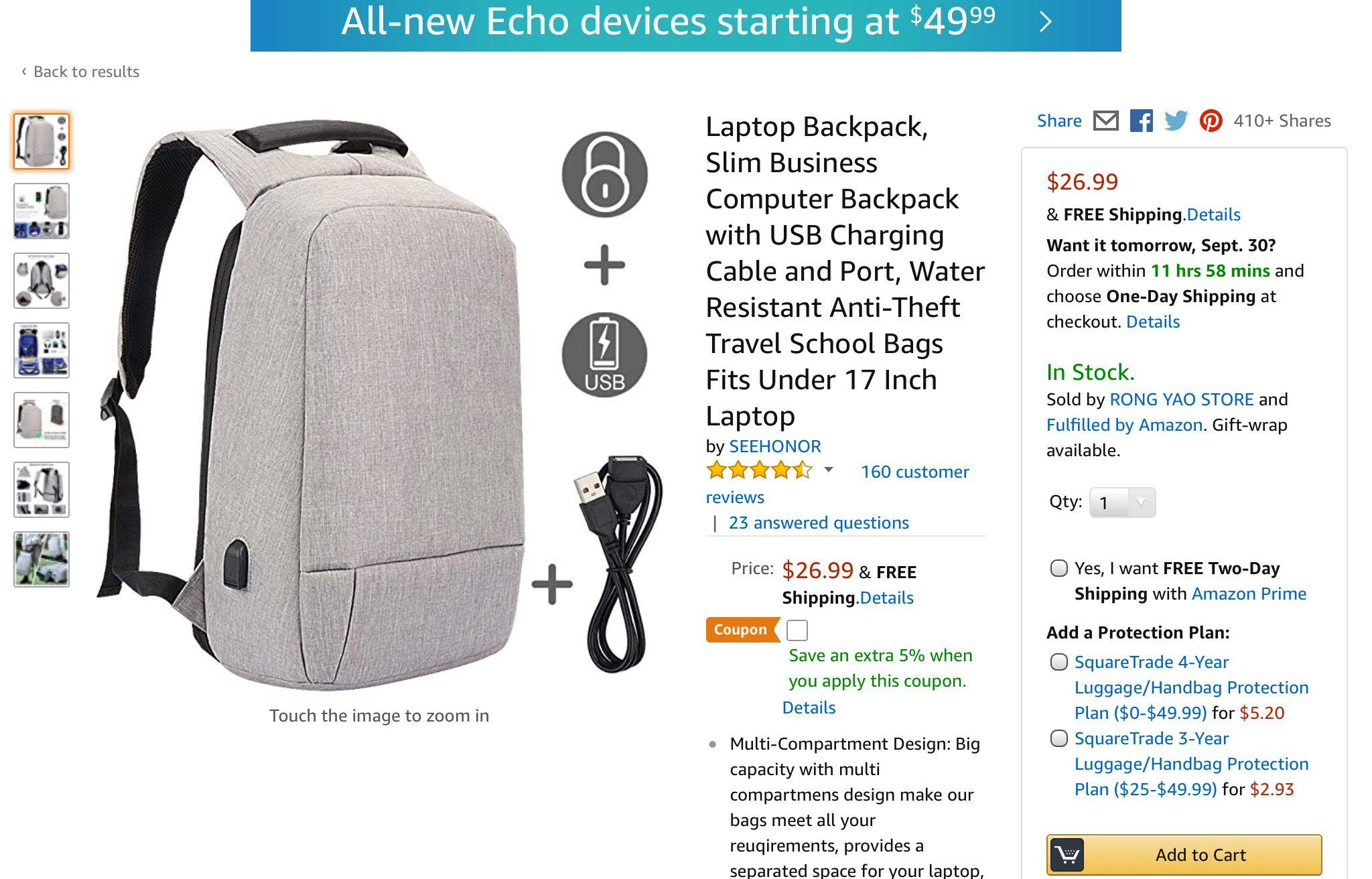 High Tech Backpack: Amazon.com |Business Tech Backpack