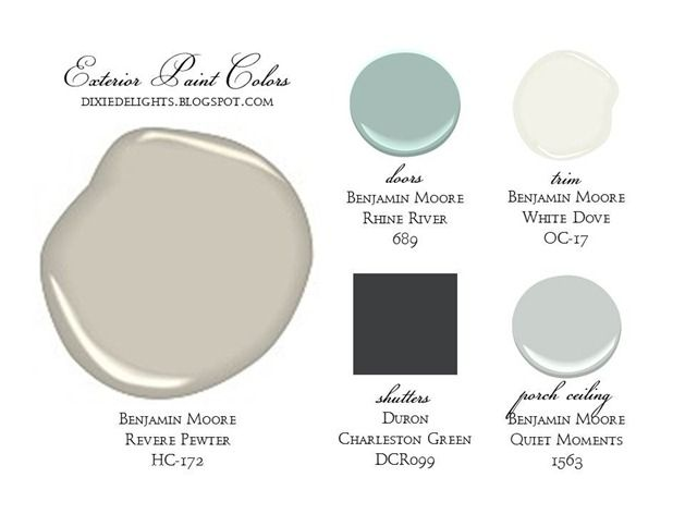 Revere pewter rhine river white dove quiet moments for Dove white paint color