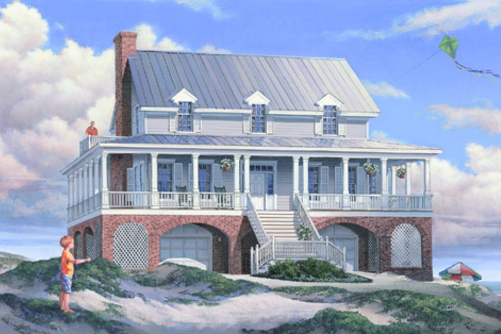 Southern Style House Plan 3 Beds 3 5 Baths 3041 Sq Ft Plan 137 254 Coastal House Plans Southern House Plans Low Country Homes