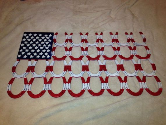 Horseshoe American Flag by ToptonMountainFarms on Etsy