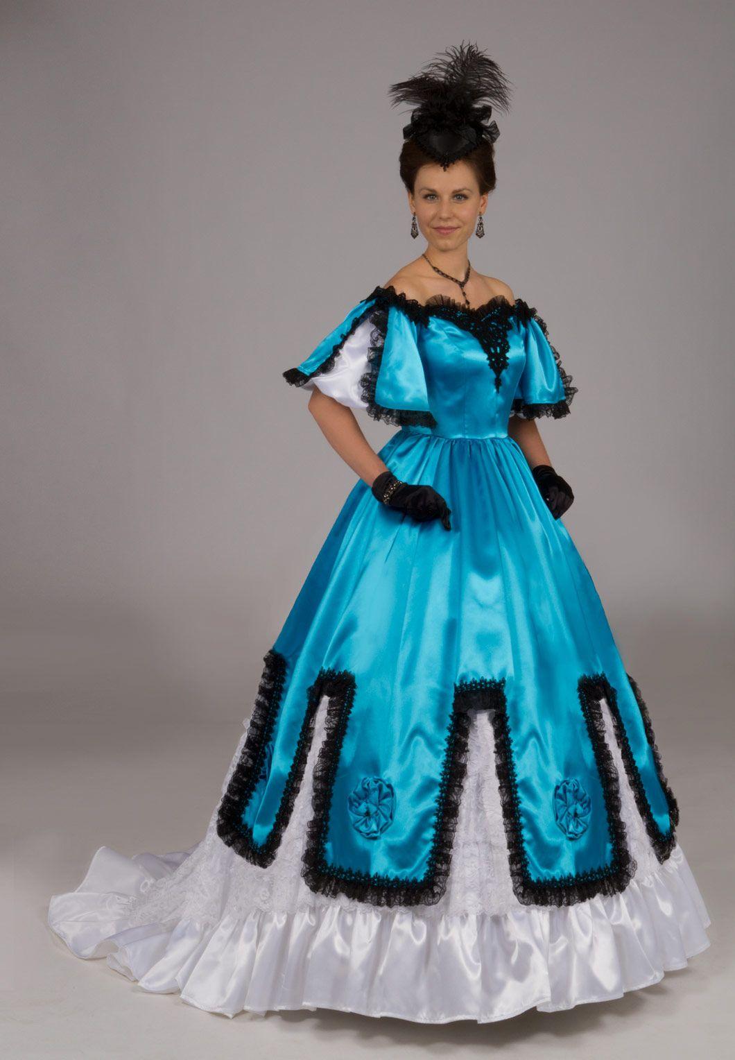 Satin Victorian Ball Gown | Victorian Evening | Pinterest ...