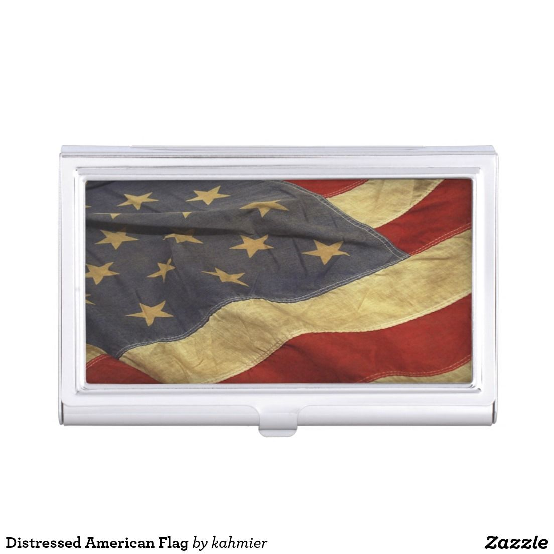 Distressed American Flag Business Card Case | All Things Zazzle ...