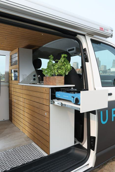 Bullifaktur's rustic modules fit together to create your ultimate VW camper van