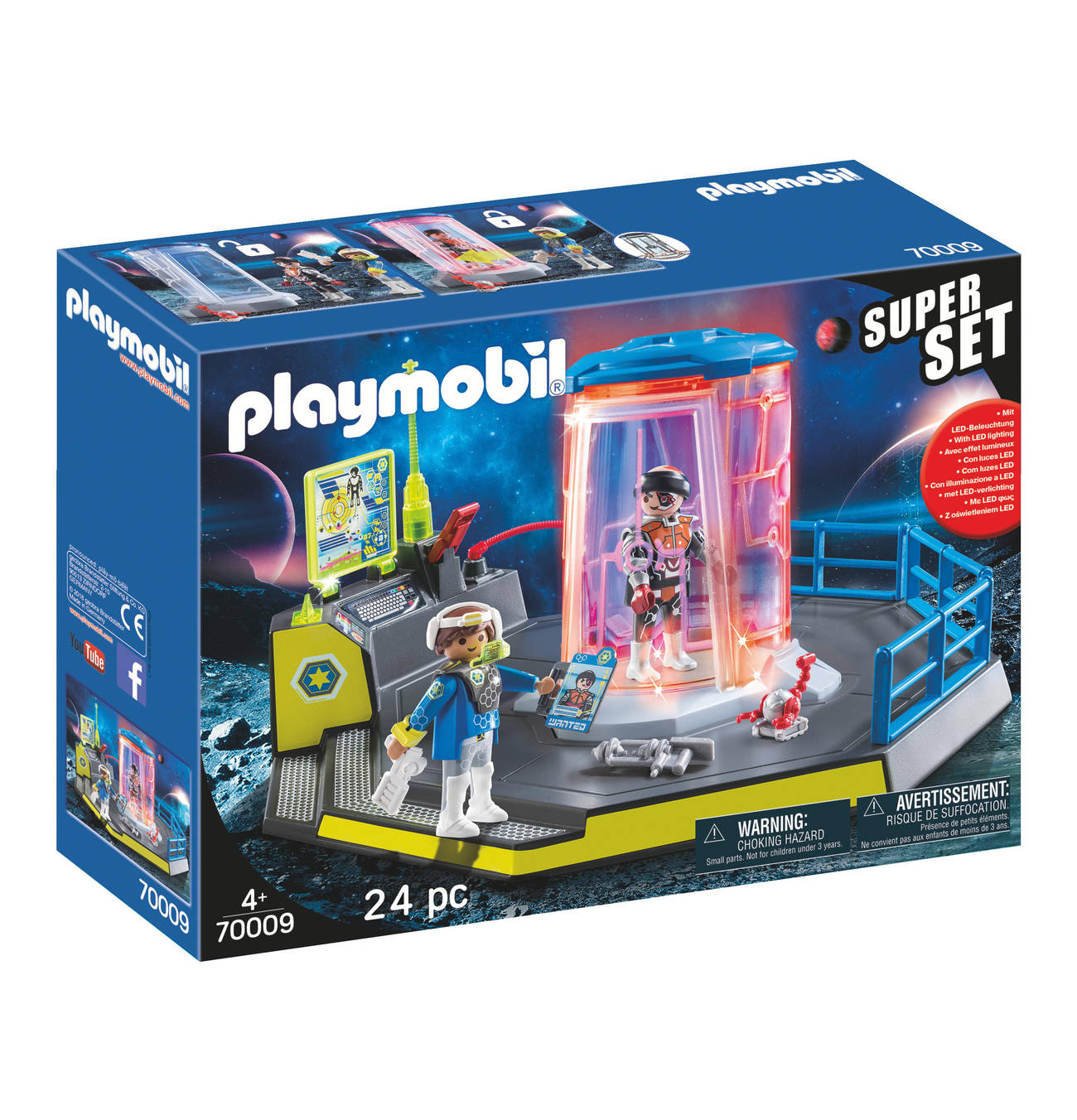 Superset Galaxy Police Gefangnis 70009 Playmobil Gefangniszelle Schwerverbrecher