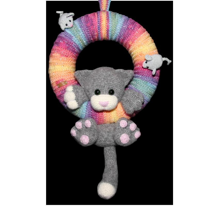 Kranzkatze - kostenlose Pdf Anleitung | Crochet Wreath | Pinterest ...