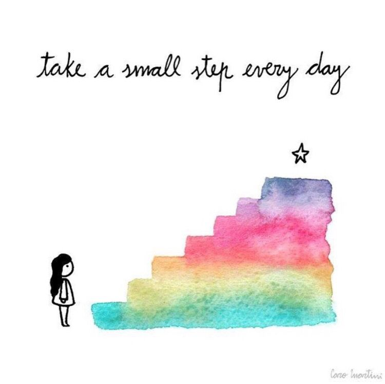 Small Steps Everyday Motivational Inspirational Love Postive Quote Poster Wall
