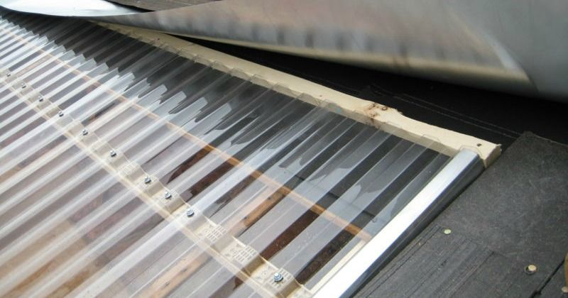 The Clear Polycarbonate Roofing Sheets Have A Professional