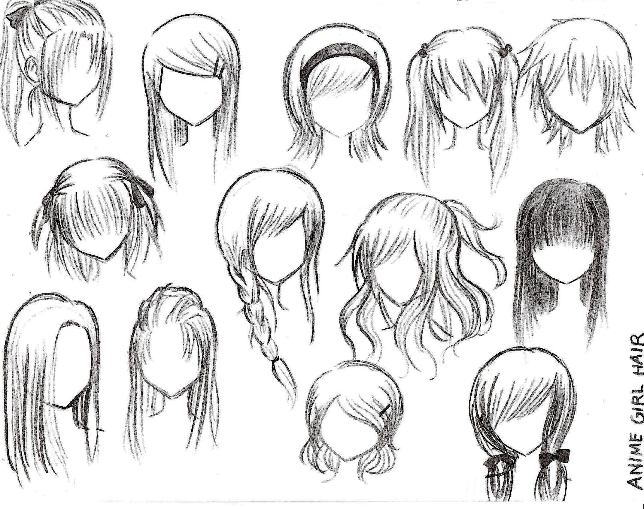 Anime Hairstyles For Girls Anime Girl Hairstyles on