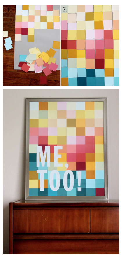 Could do this with coordinating paint chips...seems easy enough ...