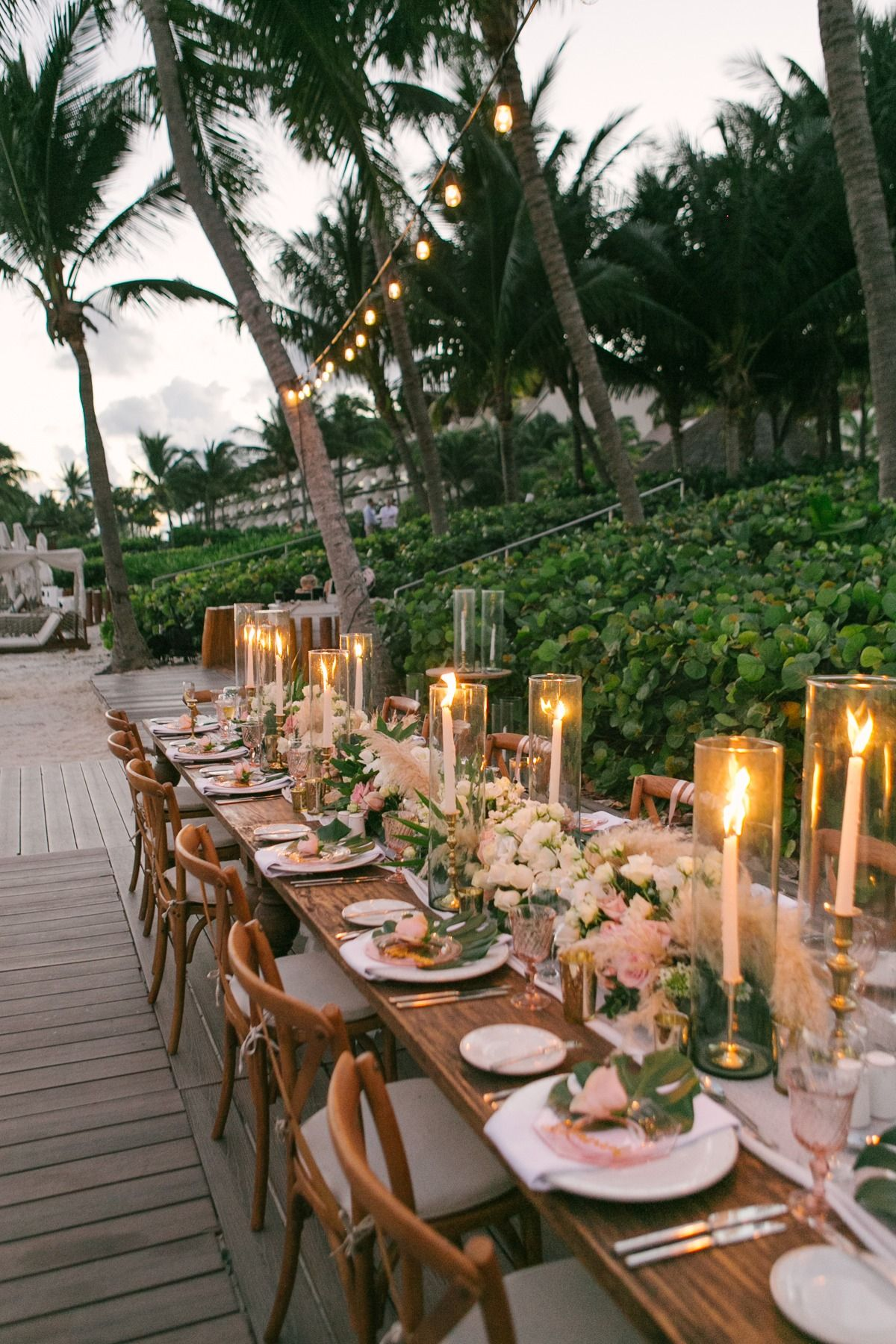 Photo of Blush and Gold Tropical Beach Wedding In Mexico