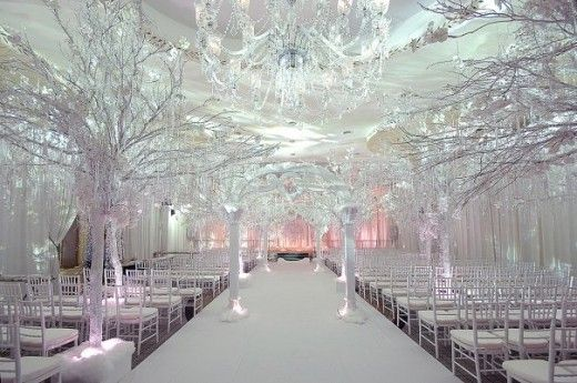 Winter Wonderland Themed Wedding Diamond Mine Design Winter