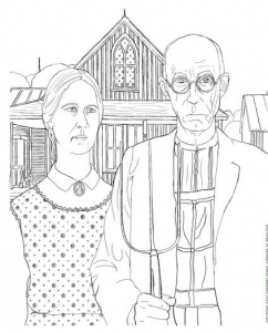 famous artwork coloring pages - Artwork Coloring Pages